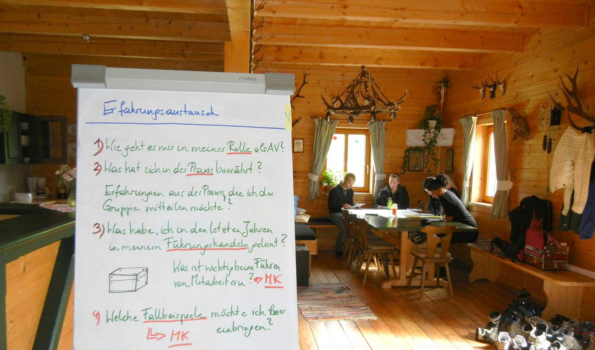 Hütte als Seminarraum